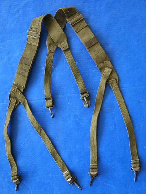 US GI M1944 Equipment Suspenders, Olive Drab, Excellent!
