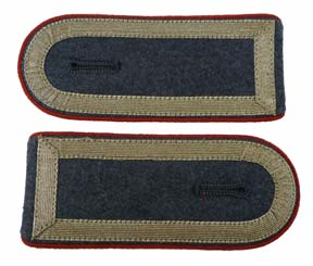German Army Bundeswehr Stabsunteroffizier Post-1962 NCO ranks Shoulderboards w/ Red Piping
