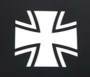 German Bundeswehr Iron Cross Vinyl Window Decal