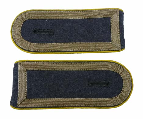 German Army Bundeswehr Stabsunteroffizier Post-1962 NCO ranks Shoulderboards w/ Yellow Piping