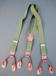 Czech Army OD Green Trouser Suspenders