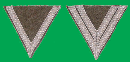 "German WWII Reproduction ""Winkles"" or Rank Chevrons"