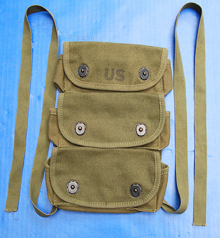 US GI Vietnam War 3-Pocket Grenade Pouch- Unissued 1967