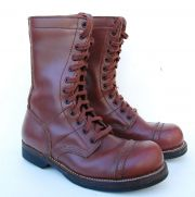 US GI WWII Paratrooper Leather Jump Boots Repro - SZ 8
