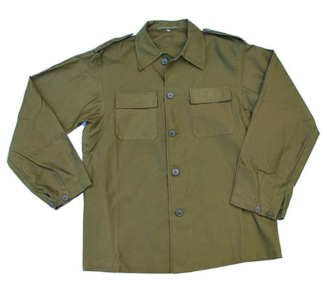 Norwegian Army Olive Green Field Shirt- New Style