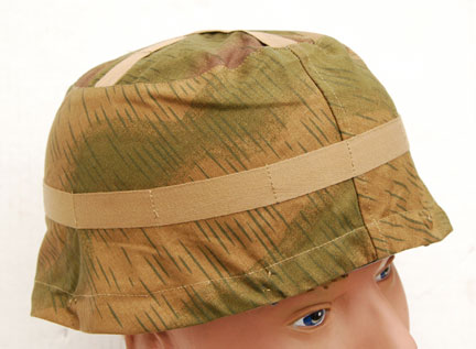 German WWII Luftwaffe Fallschirmjäger (Paratrooper) Sumpfmuster (Tan and Water) Camouflage Helmet Cover